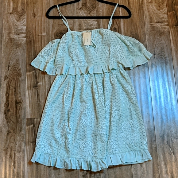 NWT DOE & RAE Mint Green Floral Lace Sundress